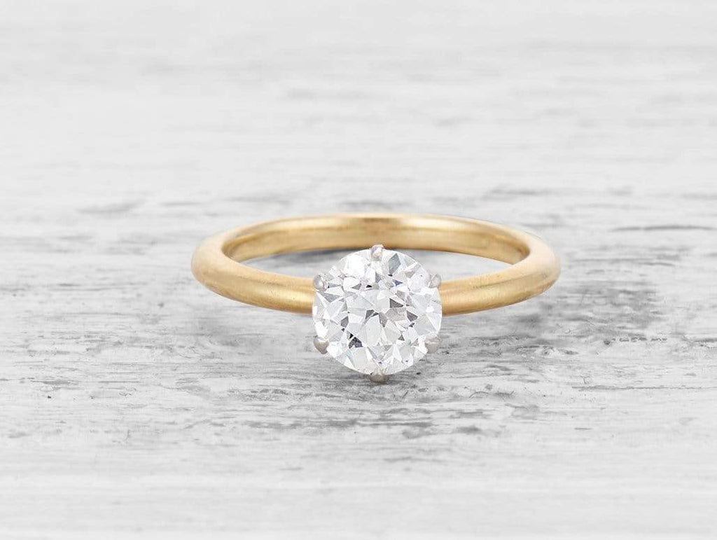 1.32 CARAT TIFFANY & CO ANTIQUE SOLITAIRE DIAMOND RING