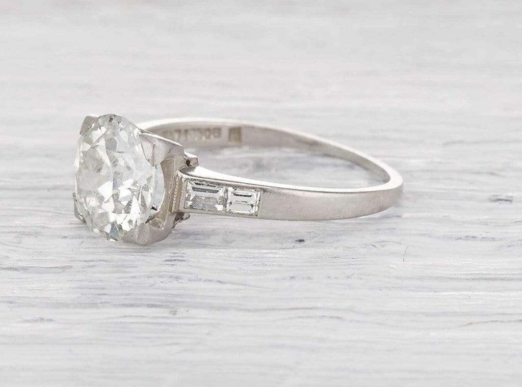 2.15 Carat Art Deco Engagement Ring