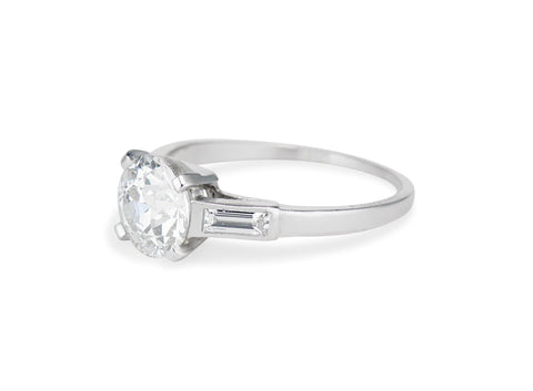 Boucheron Art Deco 2.26 Carat Old European Diamond Engagement Ring