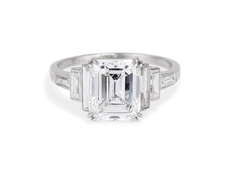 2.56 Carat Art Deco Diamond Engagement Ring