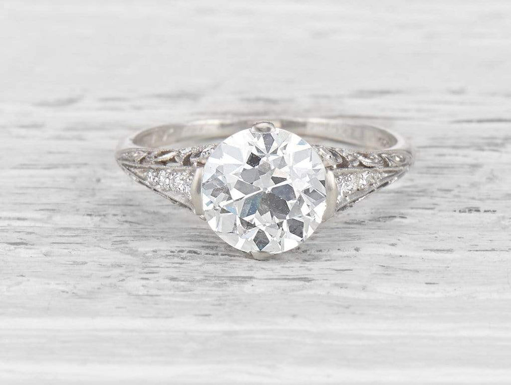 2.81 CARAT EDWARDIAN TIFFANY & CO ENGAGEMENT RING