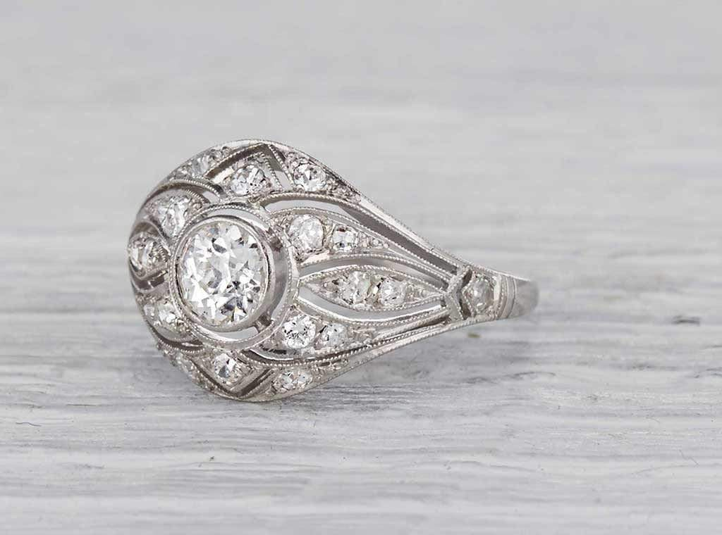 .45 Carat Early Art Deco Diamond Ring