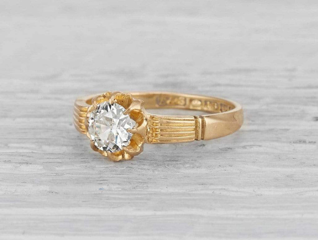 .54 Carat Victorian Diamond SOLITAIRE Engagement Ring