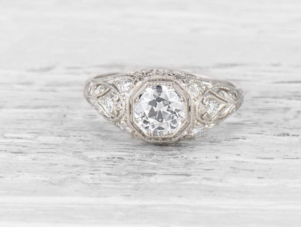 .75 CARAT EDWARDIAN DIAMOND ENGAGEMENT RING