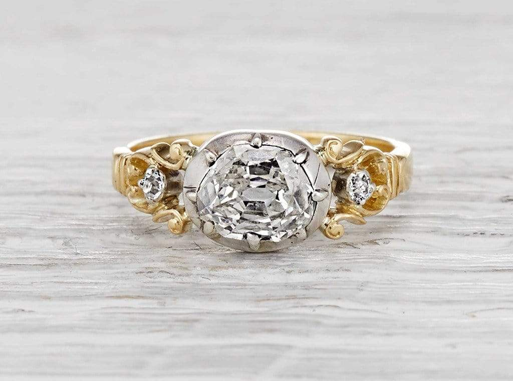 .85 Carat Georgian Diamond Engagement Ring