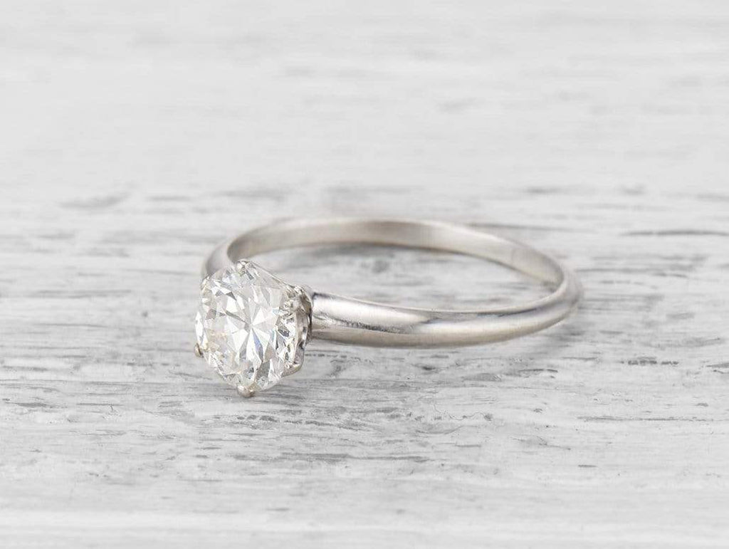 .98 CARAT TIFFANY & CO. DIAMOND SOLITAIRE ENGAGEMENT RING