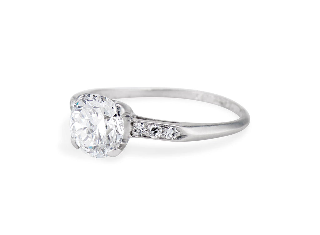 Art Deco 1.18 Carat Diamond and Platinum Solitaire Engagement Ring