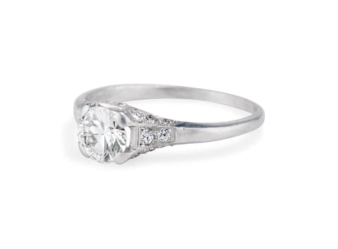 Art Deco Diamond and Platinum Engagement Ring