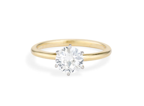 Art Deco Tiffany & Co 1.37 Carat Transitional-Cut Solitaire