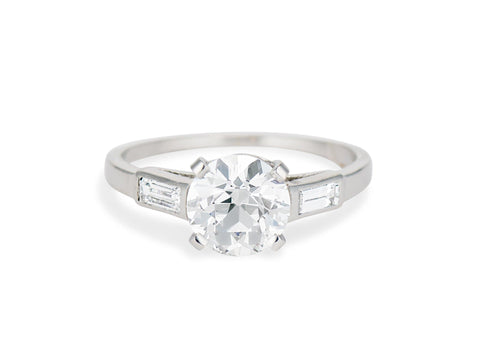 Boucheron Art Deco 2.26 Carat Engagement Ring