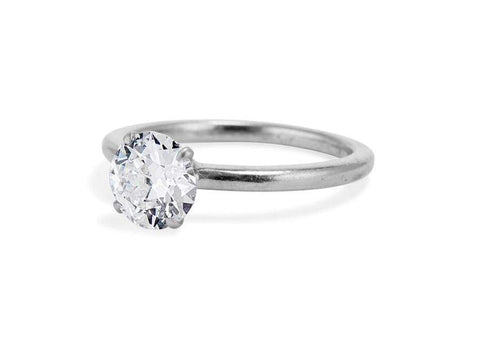 Cartier Mid Century 1.02 Carat Old European Cut Diamond Solitaire