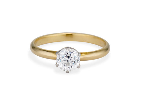 Classic Tiffany & Co. .91 Carat Old European Diamond Solitaire Engagement Ring