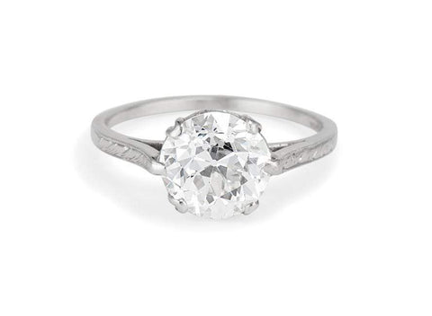 Dreicer & Co Edwardian 2.12 Carat Old European Cut Diamond Solitaire