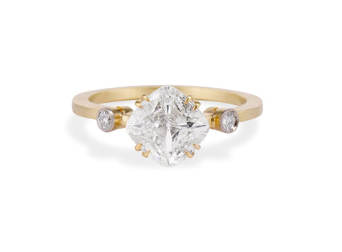 Edwardian 1.00 Carat Cushion Diamond Engagement Ring