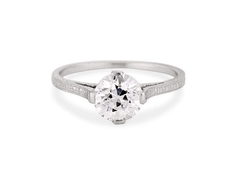 Edwardian 1.11 Carat Old European Cut Diamond Solitaire