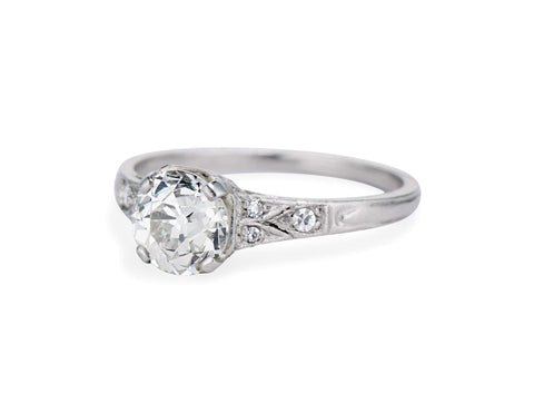 Edwardian 1.21 Carat Old European Cut Diamond Ring