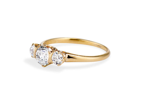 Edwardian Tiffany & Co .70 Carat Old European Cut Diamond Engagement Ring