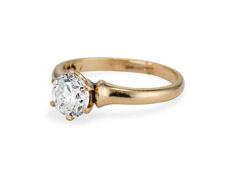 Edwardian .80 Old European-Cut Diamond Solitaire Engagement Ring