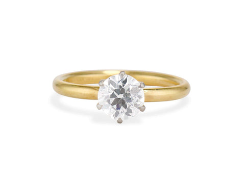 Tiffany & Co 1.16 Carat Old European Diamond Solitaire, 1930s American