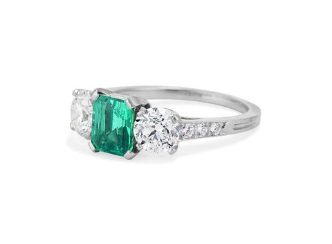 Tiffany & Co. Colombian Emerald & Diamond Ring