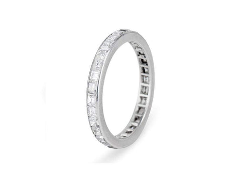 Art Deco 1.50 Carat Carre Cut Diamond Eternity Band