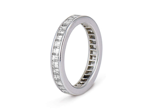 Art Deco 1.75 Carat Baguette Diamond Eternity Band, France