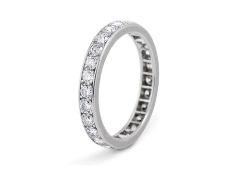 Mid-Century 1.00 Carat Brilliant Cut Diamond Eternity Band