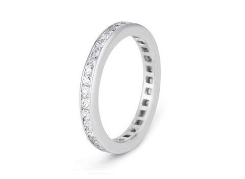 2.50 Carat French Cut Diamond Eternity Band