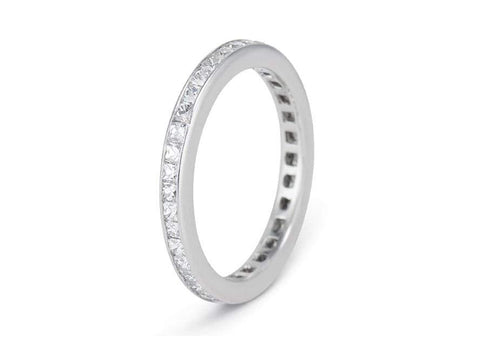 Art Deco 3.50 Carat French Cut Diamond Eternity Band