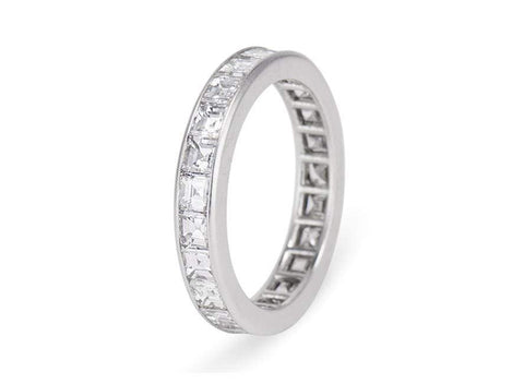 3 Carat Carre Cut Diamond Eternity Band