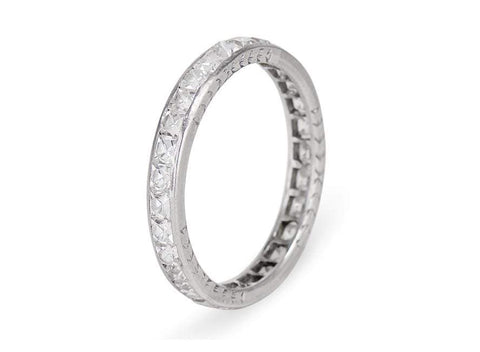 3 Carat French Cut Diamond Eternity Band