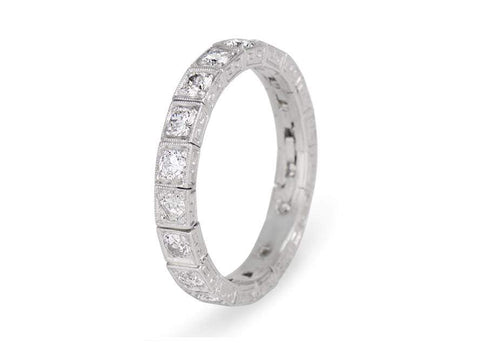 .85 Carat Old European Cut Diamond Eternity Band