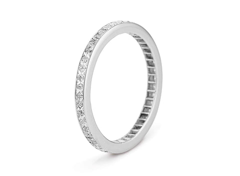 Art Deco 2.50 Carat French Cut Diamond Eternity Band