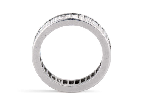 Art Deco 3 Carat Carre Cut Diamond Eternity Band