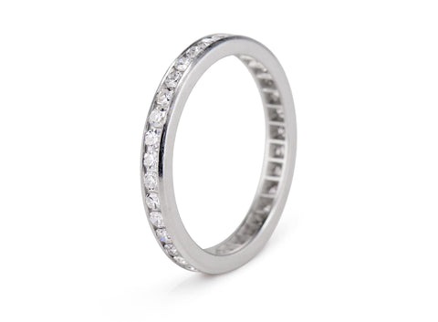 Art Deco .70 Carat Diamond and Platinum Wedding Band