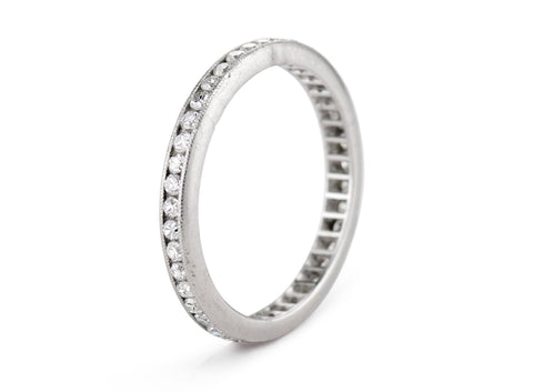 Edwardian .40 Carat Diamond and Platinum Eternity Wedding Band
