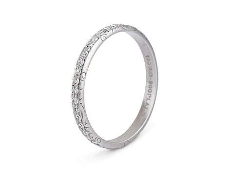 Edwardian .65 Carat Single Cut Diamond and Platinum Band