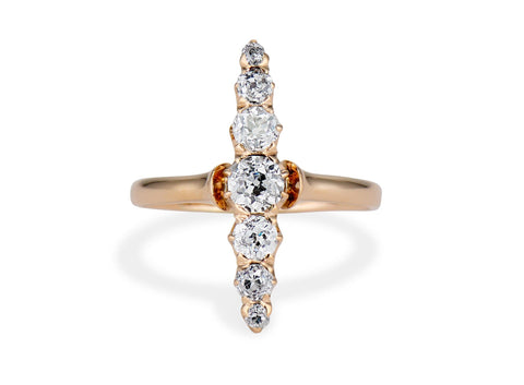 Edwardian Old European-Cut Diamond and Gold Dinner Ring