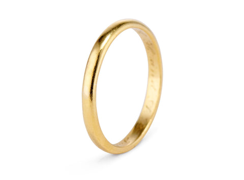 Tiffany & Co. Art Deco 22k Gold Wedding Band
