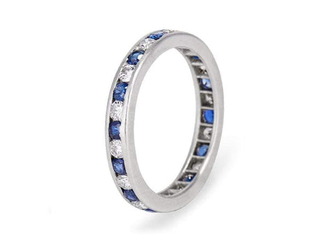 Tiffany & Co Sapphire Diamond Eternity Band
