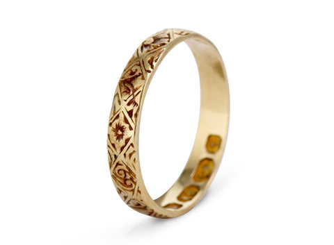 Victorian Engraved Gold Band