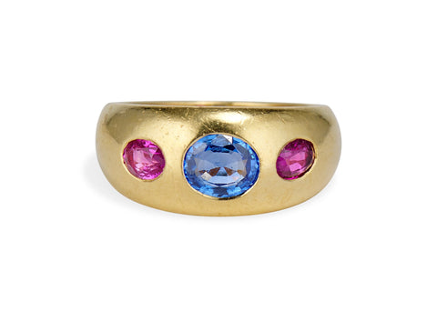Bulgari 1970s Sapphire and Gold Ring, Italy