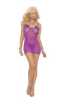 Purple Mesh Bow Dress