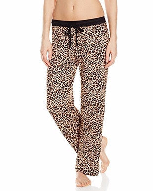 Yellow Leopard Pants Sleepwear