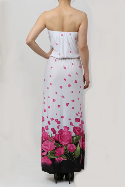 Flower Tube Long Dress