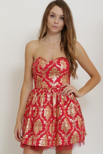 Red Tube Flared Dress