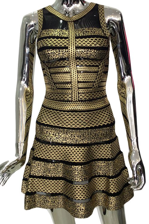 Gold treasure dress