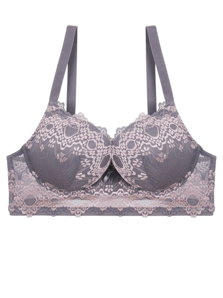 Floral Pushup Bra