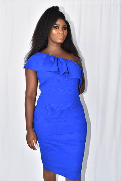 Mono Strap Bodycon Dress