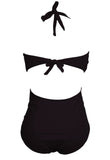 Black Plus size One Piece Swimsuit
